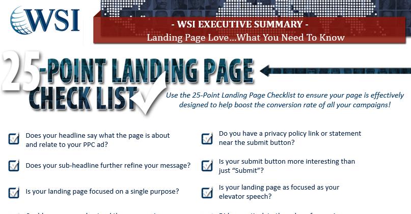 Checklista landningssidor